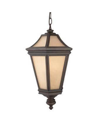 Quoizel Lighting PT1807 TB Petalo Collection Three Light Exterior Outdoor Hanging Lantern in Terra Bronze Finish - Quality Discount Lighting