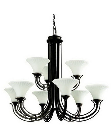 Kichler Lighting 42077 OZ Nine Light Chandelier in Olde Bronze Finish - Quality Discount Lighting