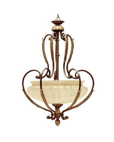 Kichler Lighting 3399 BRL Brulee Five Light Pendant Chandelier in Brulee Finish with Gold Leaf Trim - Quality Discount Lighting
