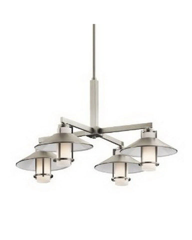 Kichler Lighting 42812 NI Four Light Hanging Chandelier in Brushed Nickel Finish - Quality Discount Lighting