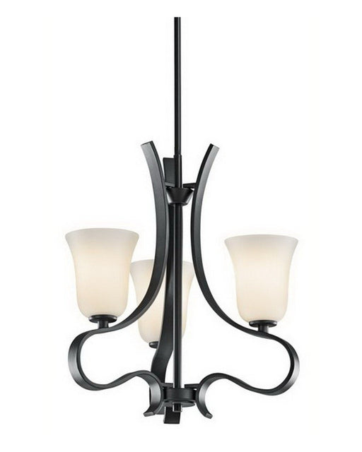 Kichler Lighting 42522 BK Three Light Chandelier in Black Finish - Quality Discount Lighting