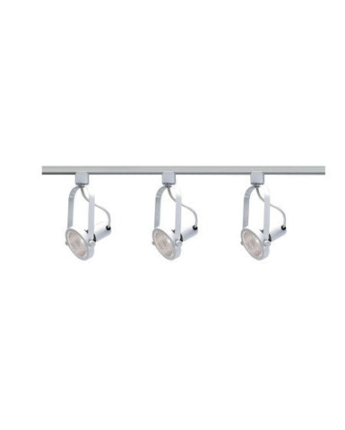 Epiphany Lighting PT4048 WH Three Light PAR30 Gimbal Track Kit in White Finish