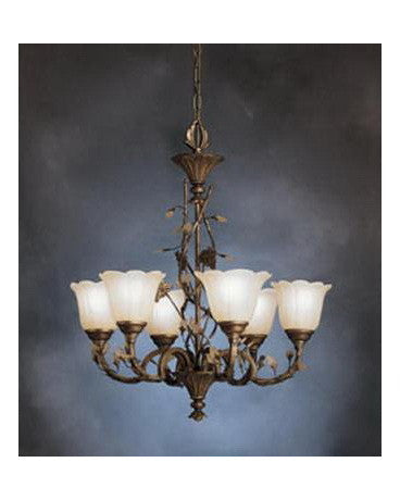 Kichler Lighting S1979 PRZ Six Light Chandelier in Parisian Bronze Finish - Quality Discount Lighting