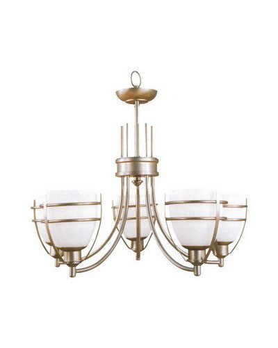 Epiphany Lighting 100320 BNTCC Five Light Chandelier in Brushed Nickel Finish - Quality Discount Lighting