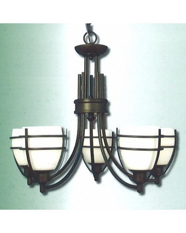 Epiphany Lighting 100320 ORB Five Light Chandelier in Oil Rubbed Bronze Finish - Quality Discount Lighting
