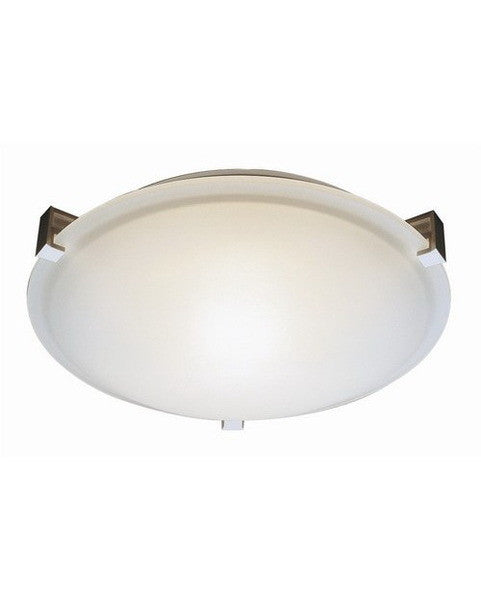 Trans Globe Lighting 58003 One Light Halogen Flush Ceiling Fixture in White Finish