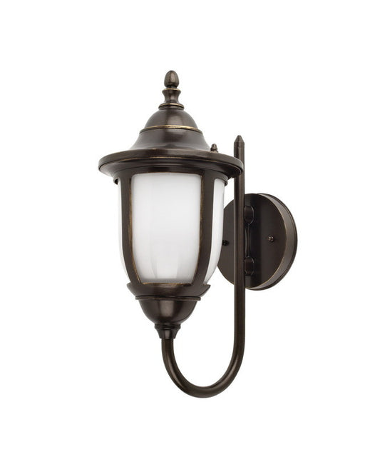 Globe Lighting 40193 One Light Energy Efficient Fluorescent Outdoor Exterior Wall Mount in Oil Rubbed Bronze Finish