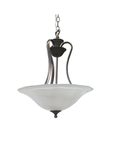 Kichler S3216 TGP Kempton Park Collection Three Light Inverted Hanging Pendant in Tuscan Gold Finish - Quality Discount Lighting