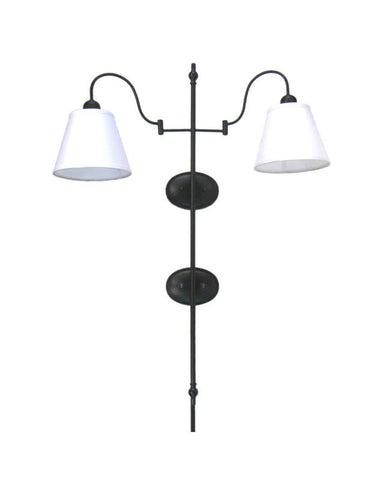 Quoizel Lighting HDS1062K-S583 Two Light Wall Sconce in Black Finish - Quality Discount Lighting