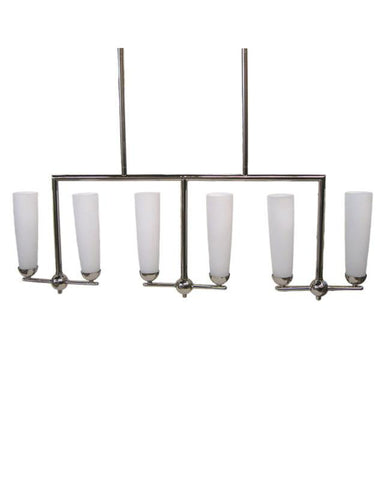 Quoizel Lighting BZ6411S Six Light Island Chandelier in Silver Finish - Quality Discount Lighting