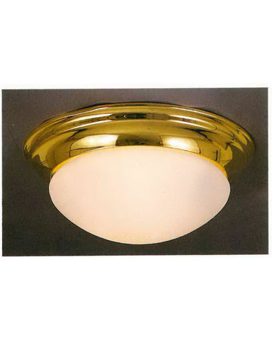 International Lighting 5437-10 Two Light Flush Ceiling in Polished Brass Finish - Quality Discount Lighting