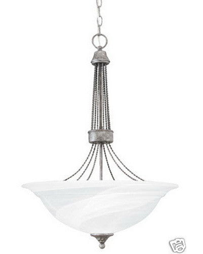 Thomas Lighting SL8225-66 Three Light Pendant Chandelier in Silver Slate Finish