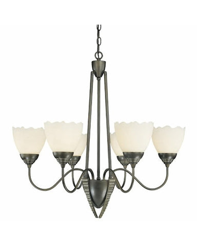 Thomas Lighting M2009-63 Six Light Chandelier in Painted Bronze Finish - Quality Discount Lighting