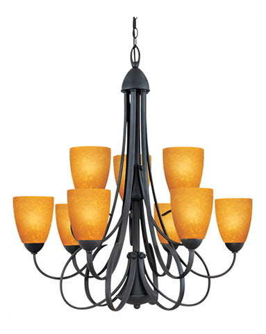 Thomas Lighting M2215-63 Nine Light Chandelier in Painted Bronze Finish - Quality Discount Lighting