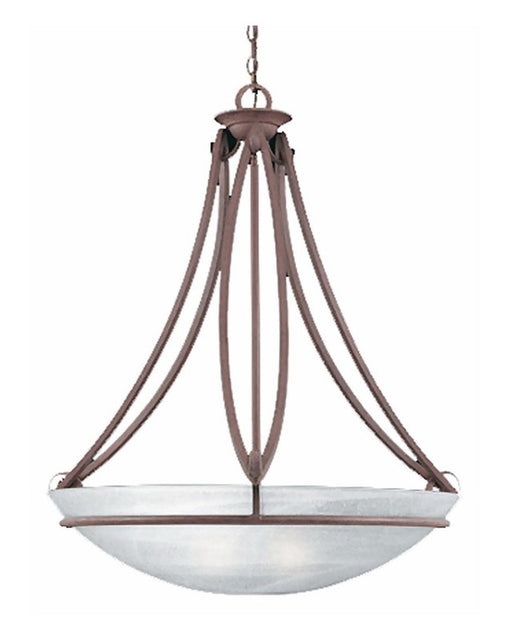 Thomas Lighting M2576-81 Five Light Pendant Chandelier in Tile Bronze Finish