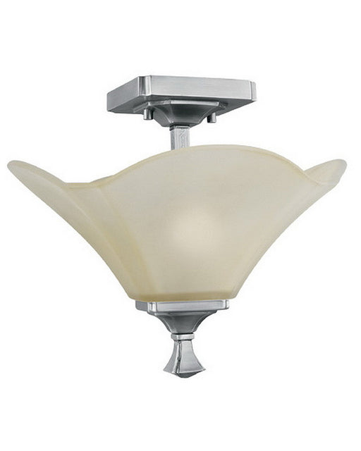 Thomas Lighting M2952-41 Monroe Collection 2 Light Semi Flush Ceiling Fixture in Satin Pewter Finish
