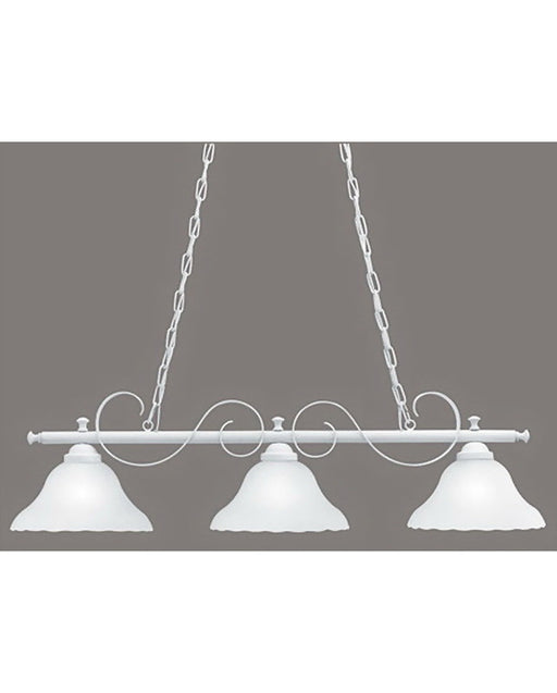 Thomas Lighting SL8243-18 Three Light Island Chandelier in Textured White Finish
