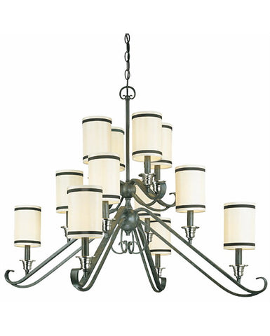 Thomas Lighting M2091-26 Avila Collection Twelve Light Chandelier in Natural Slate Finish - Quality Discount Lighting