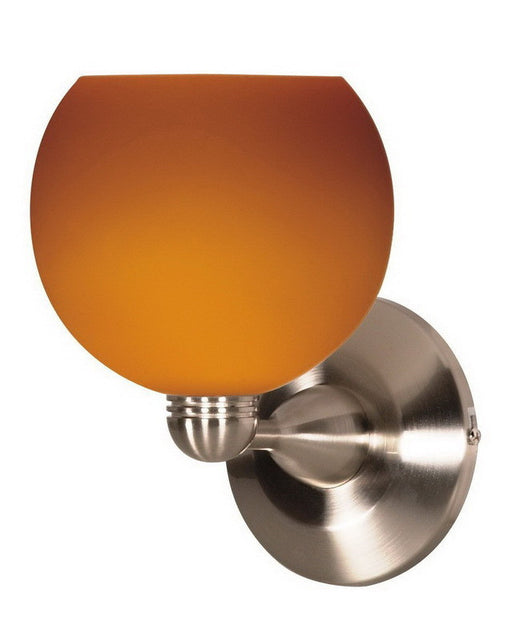 Nuvo Lighting 60-693 One Light Wall Sconce in Brushed Nickel Finish and Butterscotch Sphere Glass - Quality Discount Lighting