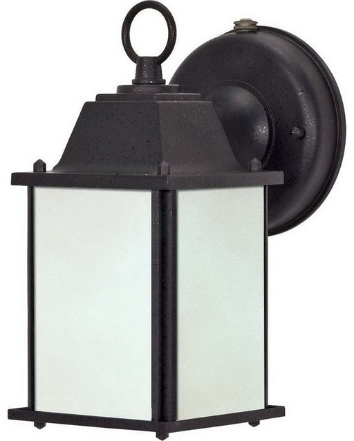 Nuvo Lighting 60-2529 One Light Energy Efficient Fluorescent Exterior Outdoor Wall Lantern in Textured Black Finish - Quality Discount Lighting
