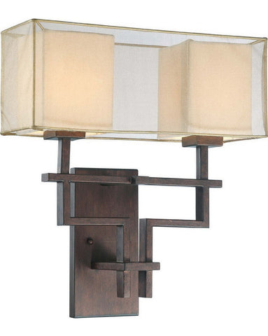 Nuvo Lighting 60-4382 Melanie Collection Two Light Wall Sconce in Corvo Bronze Finish - Quality Discount Lighting