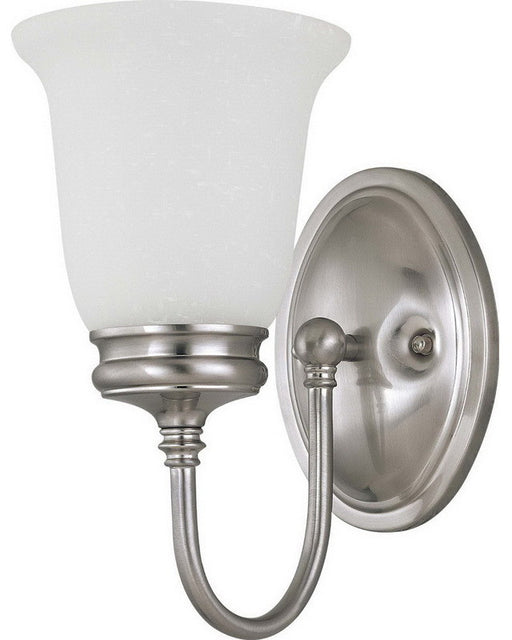 Nuvo Lighting 60-2829 Salem Collection One Light Wall Sconce in Brushed Nickel Finish - Quality Discount Lighting