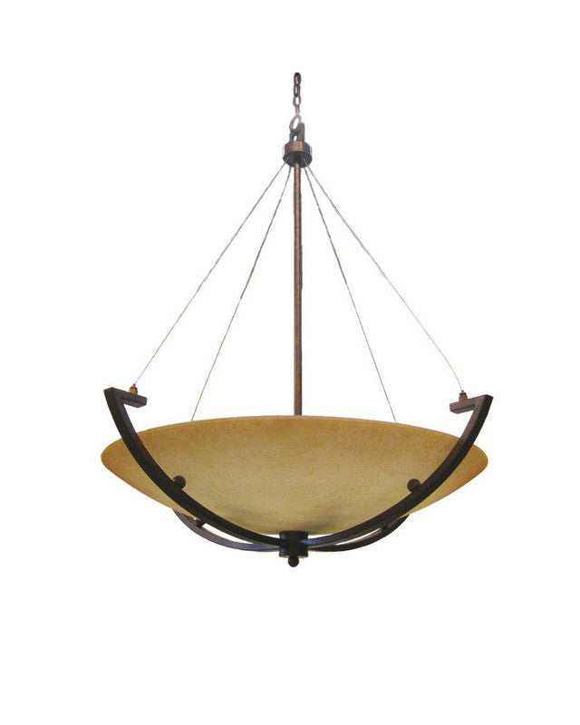 epiphany lighting sq773 five light bowl pendant chandelier in iron