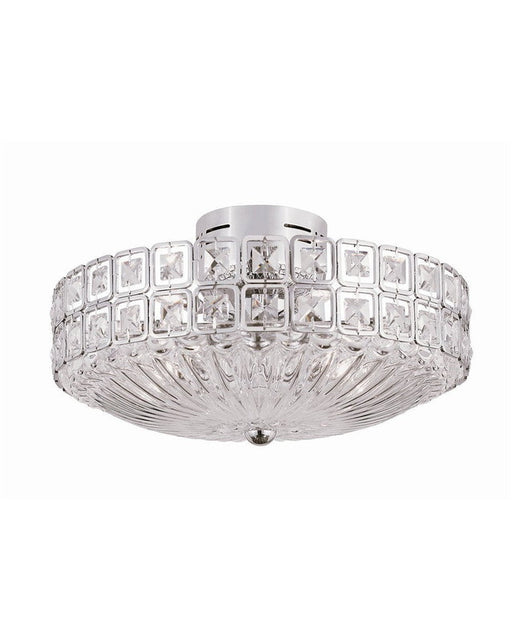 Trans Globe Lighting MDN-908 Nine Light Semi Flush Ceiling Mount in Polished Chrome Finish and Crystal - Quality Discount Lighting