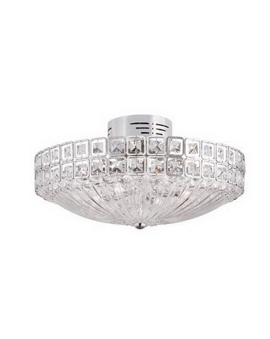 Trans Globe Lighting MDN-909 Twelve Light Semi Flush Ceiling Mount in Polished Chrome Finish and Crystal - Quality Discount Lighting
