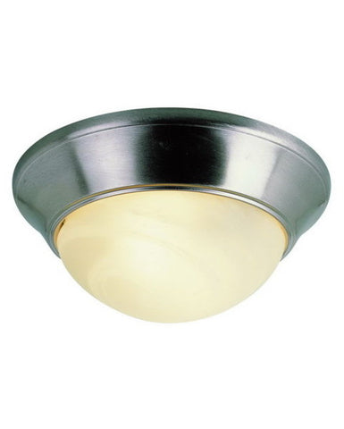 Trans Globe Lighting 57700 BN Two Light Flush Ceiling Fixture in Brushed Nickel Finish