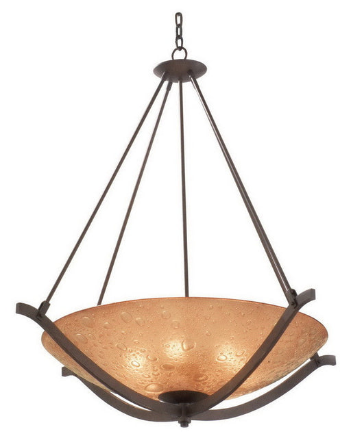 Kalco Lighting 6153 FTP Four Light Energy Efficient Fluorescent Pendant Chandelier in Tawny Port Finish - Quality Discount Lighting