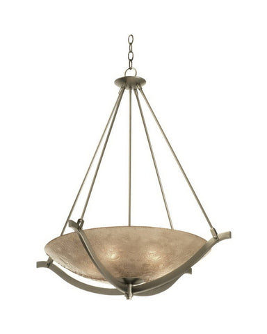 Kalco Lighting 6153 FGM Four Light Energy Efficient Fluorescent Pendant Chandelier in Gun Metal Finish - Quality Discount Lighting