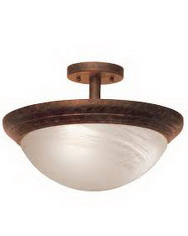 Kalco Lighting 1705CC Two Light Semi Flush Ceiling Mount in Copper Claret Finish - Quality Discount Lighting