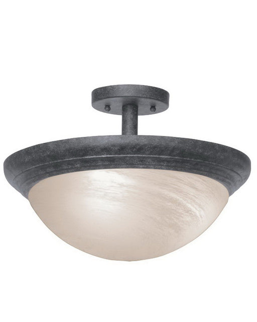 Kalco Lighting 1705CL Two Light Semi Flush Ceiling Mount in Charcoal Finish - Quality Discount Lighting