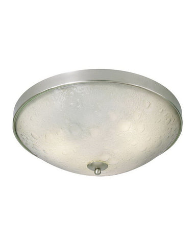 Kalco Lighting 6172 FSN Three Light Energy Efficient Fluorescent Flush Ceiling Mount in Satin Nickel Finish - Quality Discount Lighting