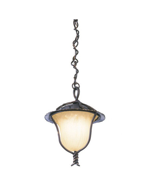 Kalco lighting 9186 ab one light outdoor exterior hanging pendant lantern in aged bronze finish