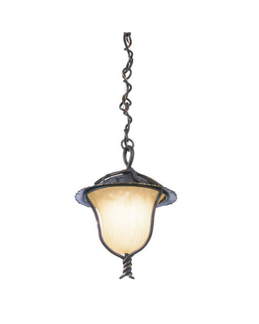 Kalco Lighting 9186 AB One Light Outdoor Exterior Hanging Pendant Lantern in Aged Bronze Finish - Quality Discount Lighting