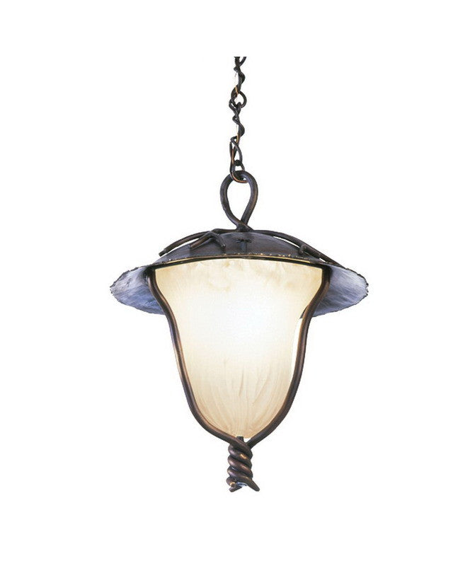 Kalco lighting 9188 ab one light outdoor exterior hanging pendant lantern in aged bronze finish