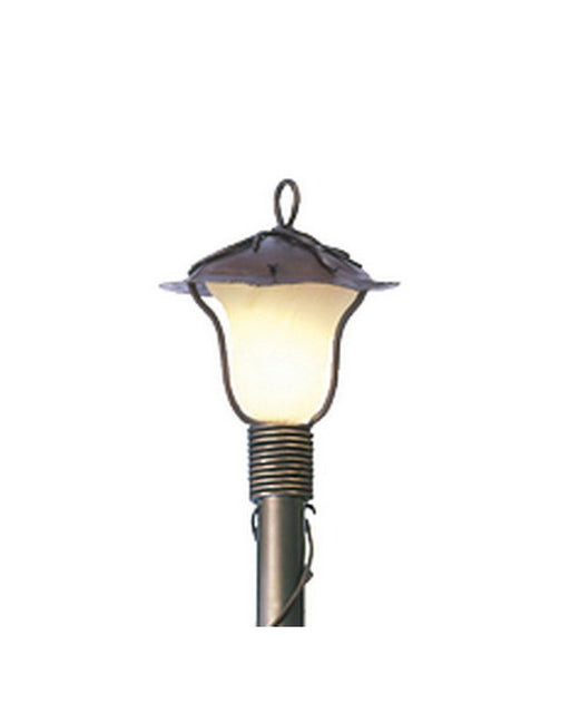 Kalco Lighting 9192 AB One Light Outdoor Exterior Post Lantern in Aged Bronze Finish - Quality Discount Lighting