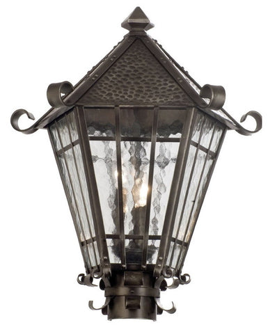 Kalco Lighting 9219 RS Three Light Outdoor Exterior Post Lantern in Rust Finish - Quality Discount Lighting