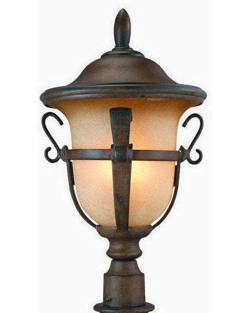 Kalco Lighting 9401 WTPL Energy Efficient Fluorescent Outdoor Exterior Post Lantern in Walnut Finish - Quality Discount Lighting