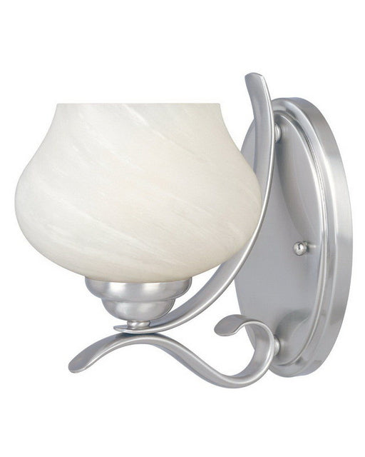 Designers Fountain Lighting 82001 SP One Light Wall Sconce in Satin Platinum Finish - Quality Discount Lighting