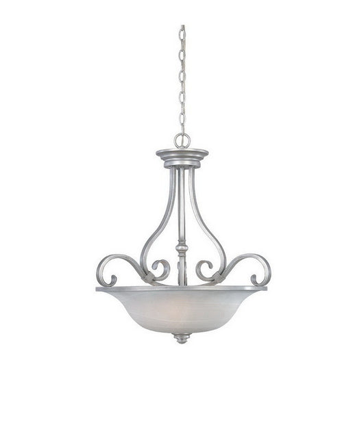 Designers Fountain Lighting 81731 MTP Montague Collection Three Light Hanging Pendant Chandelier in Matte Pewter Finish - Quality Discount Lighting