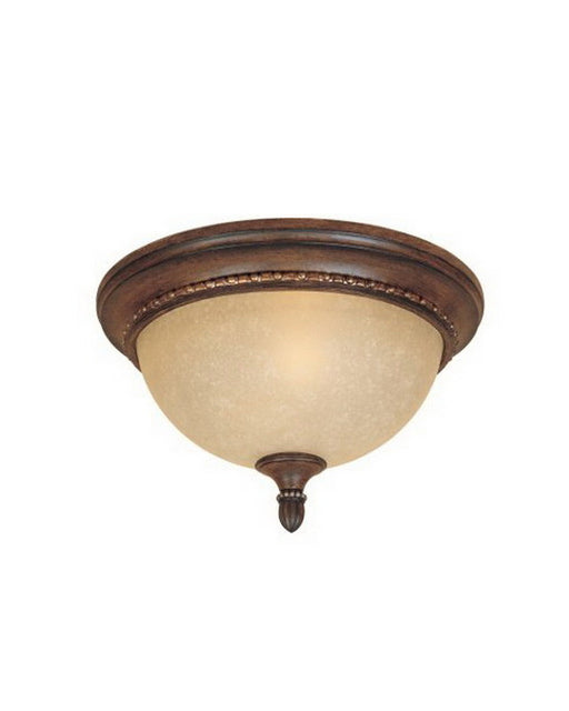 Designers Fountain Lighting 81521 BWG Montreaux Collection Two Light Flush Ceiling Mount in Burnt Walnut with Gold Accents Finish - Quality Discount Lighting