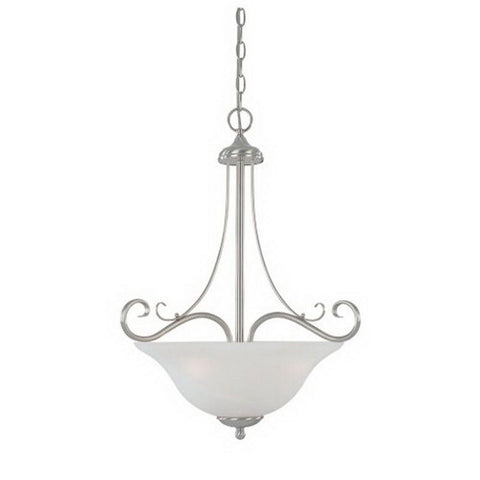 Designers Fountain Lighting ES98031 SP One Light Energy Star Fluorescent Hanging Pendant Chandelier in Satin Platinum Finish - Quality Discount Lighting