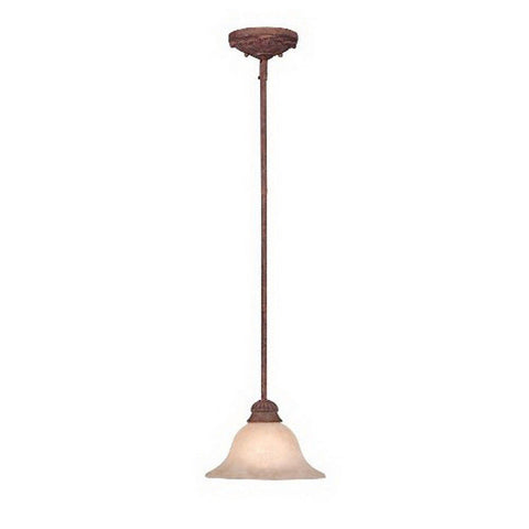 Designers Fountain Lighting ES91401 AO Energy Star Fluorescent Mini Hanging Pendant in Ancient Oak Finish - Quality Discount Lighting