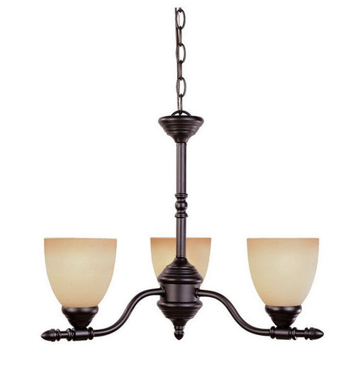 Designers Fountain Lighting 94083 ORB Three Light Hanging Chandelier in Oil Rubbed Bronze Finish - Quality Discount Lighting