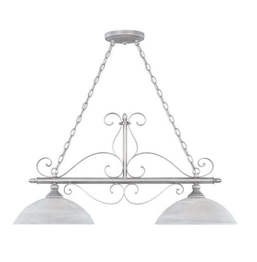 Designers Fountain Lighting 82838 MTP Two Light Hanging Island Pendant Chandelier in Matte Pewter Finish - Quality Discount Lighting