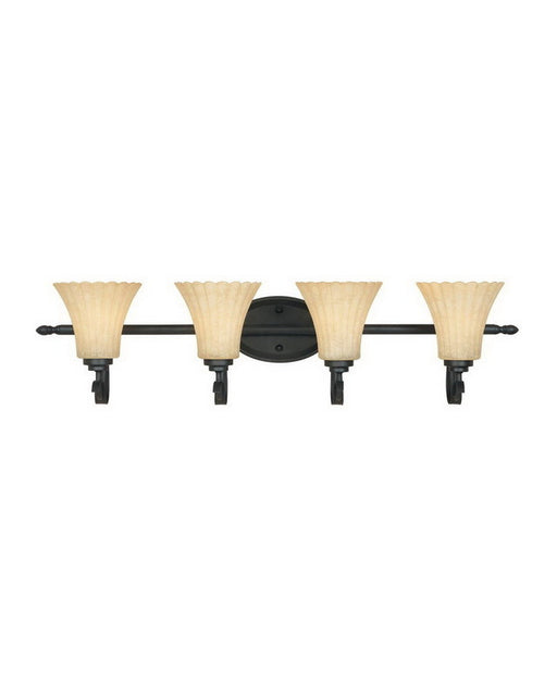 Designers Fountain Lighting 82504 BNB Four Light Bath Vanity Wall Mount in Burnished Bronze Finish - Quality Discount Lighting