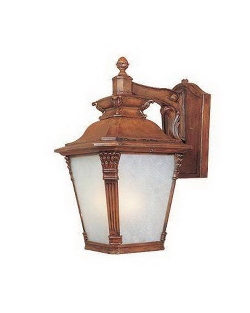 Designers Fountain Lighting ES20731 AVW One Light Energy Efficient GU24 Fluorescent Exterior Outdoor Wall Lantern in Aged Venetian Walnut Finish - Quality Discount Lighting